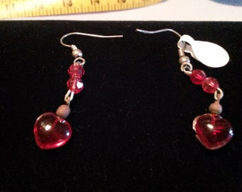 Red Heart earings