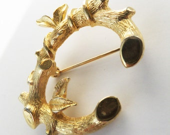 Vintage jewelry brooch by Sarah Coventry ABC letter C Sarah Coventry brooch Random act of kindness sale