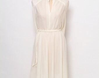 Vintage 60s Dress Hippie Dress / Dress White / boho dress festival / Spring Dress  / 80s / 1970s / 70s dress / Vintage dress / summer dress