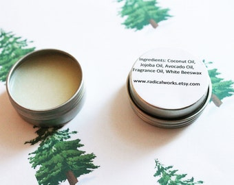 Pine Solid Perfume - Scented Natural Perfume - Cologne - Perfume Samples - Coconut Oil - Avocado Oil - Beeswax