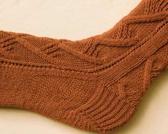Knit Sock Pattern: King Solomon's Socks Knitting Pattern