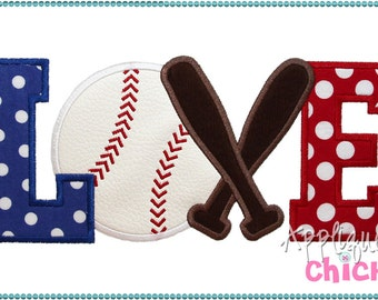 Baseball or Softball Machine Applique Design