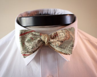 The Phileas- Our Map bowtie inspired by Disney's Around the World in 80 Days