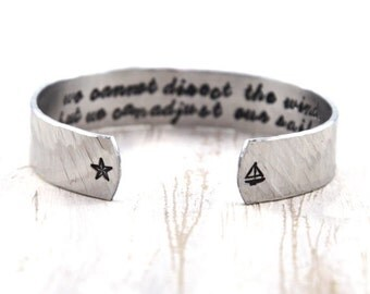 Sailing Bracelet - Nautical Bracelet - Sailing Jewelry - Sailor Jewelry - Nautical Jewelry - Sailor Bracelet - Sea Quotes Jewelry
