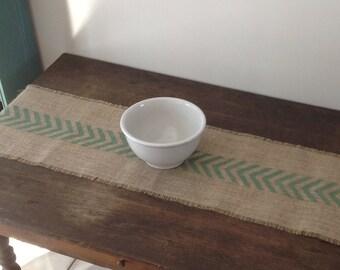 Burlap Chevron Table Runner/Rustic Burlap Home Decor