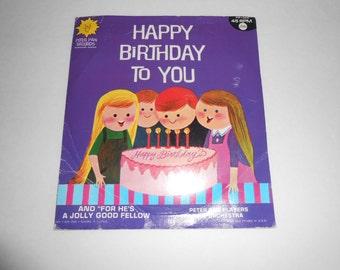 vintage Happy Birthday record Peter Pan Records 45 rpm