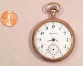 Antique Gold Genuine Hamilton Pocket Watch Case 93 grams 17 Jewels repair