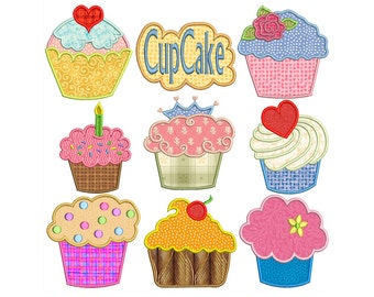 CUPCAKES - Machine Applique Embroidery - Instant Digital Download