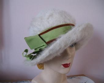 1960's Cloche Fur Hat, Original by Sylvia