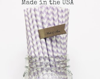 Purple Paper Straws Lavender Straws 25 Lilac Straws vintage Wedding Princess Party Supplies Cake Pop Sticks Birthday Baby Shower Made in USA