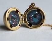 Constellation Zodiac Sphere Locket ... Personalised Space Planet Locket