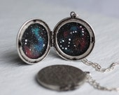 Constellation Zodiac Locket ... Personalised Globe Planet Locket