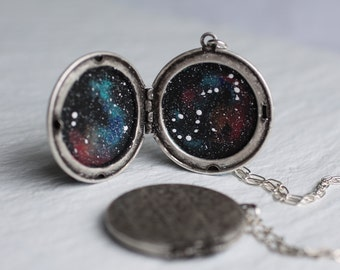 Constellation Zodiac Locket ... Personalised Globe Planet Locket