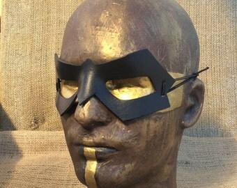 Small Domino SuperVillian Handmade Leather Mask superhero badguy cosplay costume batman catwoman