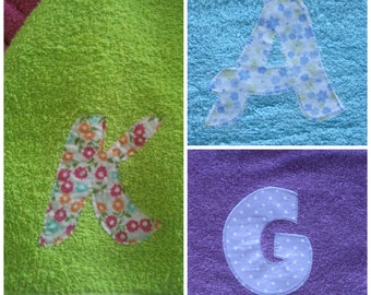 Add-On Applique Initial ,Personalize Your Hooded Towel