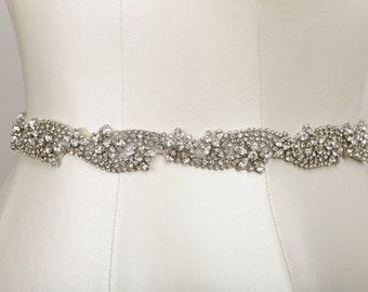 Nouveau Crystal Bridal Sash