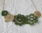 Crochet Necklaces GoldFilled Flowers