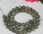 2 Strand Natural Labradorite 8mm round Loose Beads