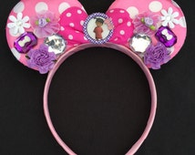 Custom Disney Pixar Monsters Inc. Boo pink polka dot Ears headband great Birthday Party Gift Favor