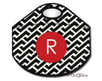 ZIG ZAG REVERSE monogrammed lunch tote - with customizable pattern and monogram