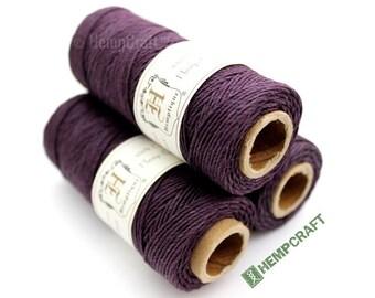 1mm Hemp Twine, Plum Purple, High Quality Hemp Craft Cord