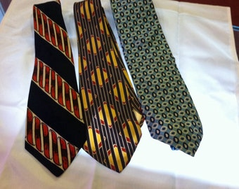 3 1970s-80s Silk Ties Lot 2