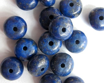 15Pieces Lapis Stone Loose Beads DIY Jewelry Finding 6mm*4mm  ja631
