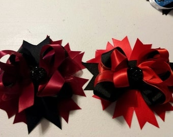 Boutique Style Red/Black Hairbow