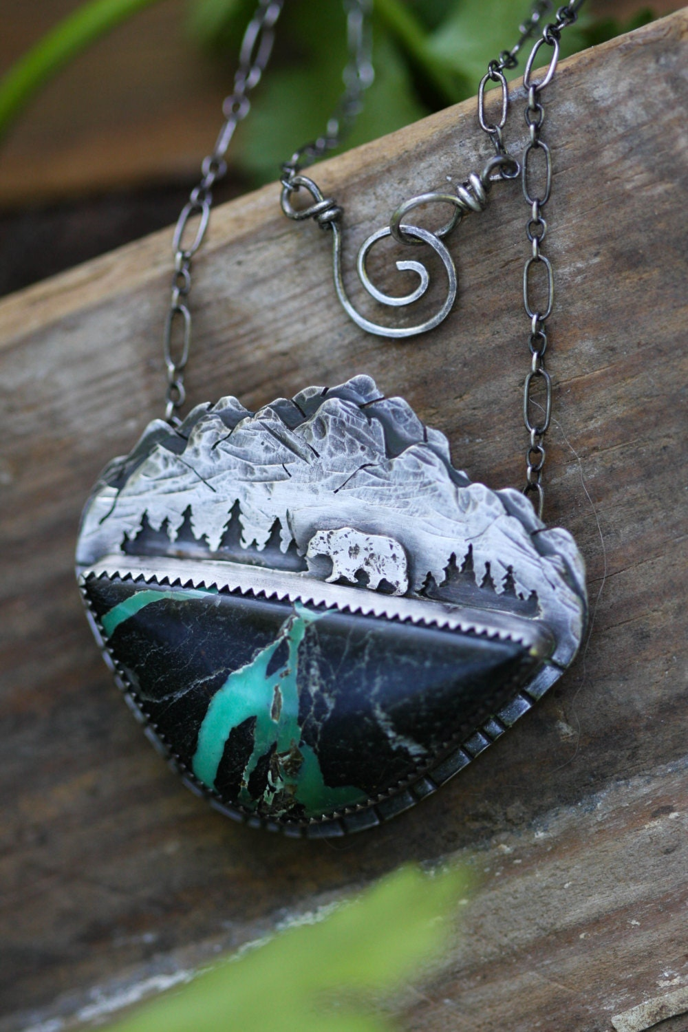 mountain necklace mountain jewelry landscape necklace