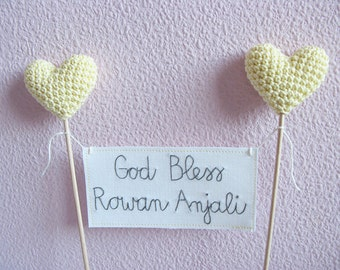 Baptism Cake Topper, God Bless, Christening Cake Topper