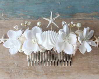 Destination Wedding Beach Wedding Beach wedding comb Wedding Headpiece Wedding Headband Tiara Beach Headpice, Beach Crown Pearl accessory
