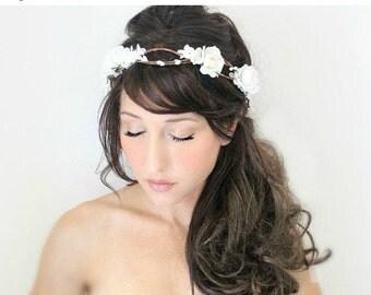 SALE Rose Flower Crown by DeLoop, Wedding Headpiece, fairy wedding, bridal accessories, wedding hair  - Danielle - by DeLoop