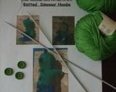 Pattern ~ Under Rainbows Knitted Dinosaur Hoodie