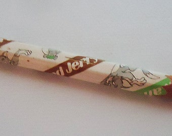 Vintage Tom and Jerry Pencil.Two Colors.Rescued item from the 80s