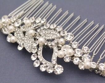Wedding hair clip,Bridal hair comb pearl,Wedding hair jewelry,Bridal hair clip,Pearl hair clip,Bridal hair piece,Wedding hair accessories