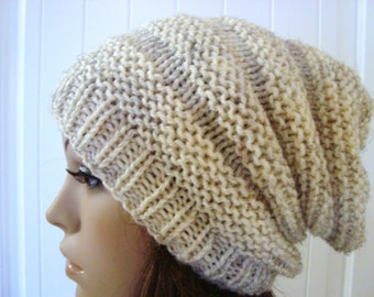 Hat Slouchy Beanie Hat in Wheat Color Womens Beanies Winter Accessories Mens Slouchy Hat Beanie