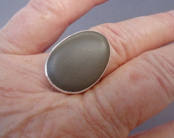 Beach Pebble Ring, Beach Stone Ring, Pebble Ring, Stone Ring, Size 7.5, Poros Collection