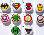 1   HERO Knobs Your choice, boys and girls,   on white dresser drawer knobs kids