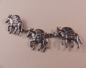 Vintage Los Castillo Taxco Sterling Three Burros Brooch