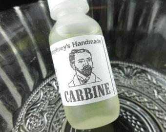 Men's CARBINE Beard Oil, Gun Oil Scent, Small .5 oz Beard Conditioner, Natural Beard Oil for Men, Apricot Kernel Oil, Avocado Oil Gun Oil