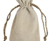 Linen Bags - 3X5 Linen Bags - 12 Natural Linen Bags - Advent Bags - Special Occasion Bag - Jewelry Bags
