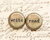 Write & Read - Stud Earrings