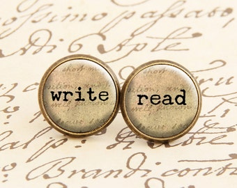Write & Read - Stud Earrings