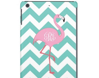 Personalized Flamingo iPad Cases - iPad mini, iPad 2, New iPad, iPad 4- Monogrammed Flamingo iPad Cover