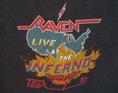 RAVEN metallica 1983 tour TSHIRT