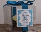 8 - Wedding Favor Cupcake Boxes - Taylor Design - ANY COLOR-wedding favors, wedding cupcake box, personalized cupcake box