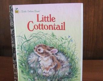 "Vintage 80's ""Little Cottontail"" A Little Golden Book - 1988 - Children's Picture Book - Children's Book - 80's Golden Book - Rabbit Book"
