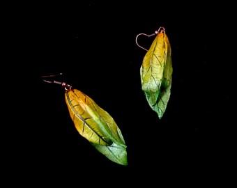 Polymer Clay Realistic Autumn Leaves Earrings,  Leaves Earrings