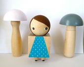 Wooden Square Doll Collectible