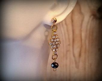 18K Gold Plated Rhinestone Earrings